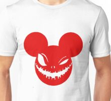 Scary Mickey Red Unisex T-Shirt