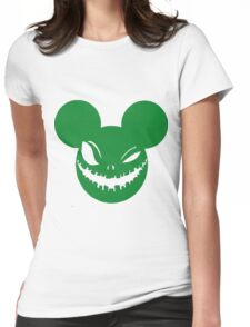 Scary Mickey Green Womens Fitted T-Shirt