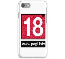 Pegi 18 - under over eighteen iPhone Case/Skin