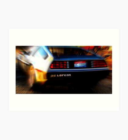 Shwoosh......De Lorean Art Print