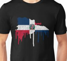 Dominican Republic Paint Drip Unisex T-Shirt
