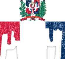 Dominican Republic Paint Drip Sticker