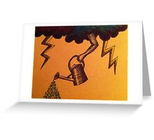 Watering Can in the Sky Greeting Card