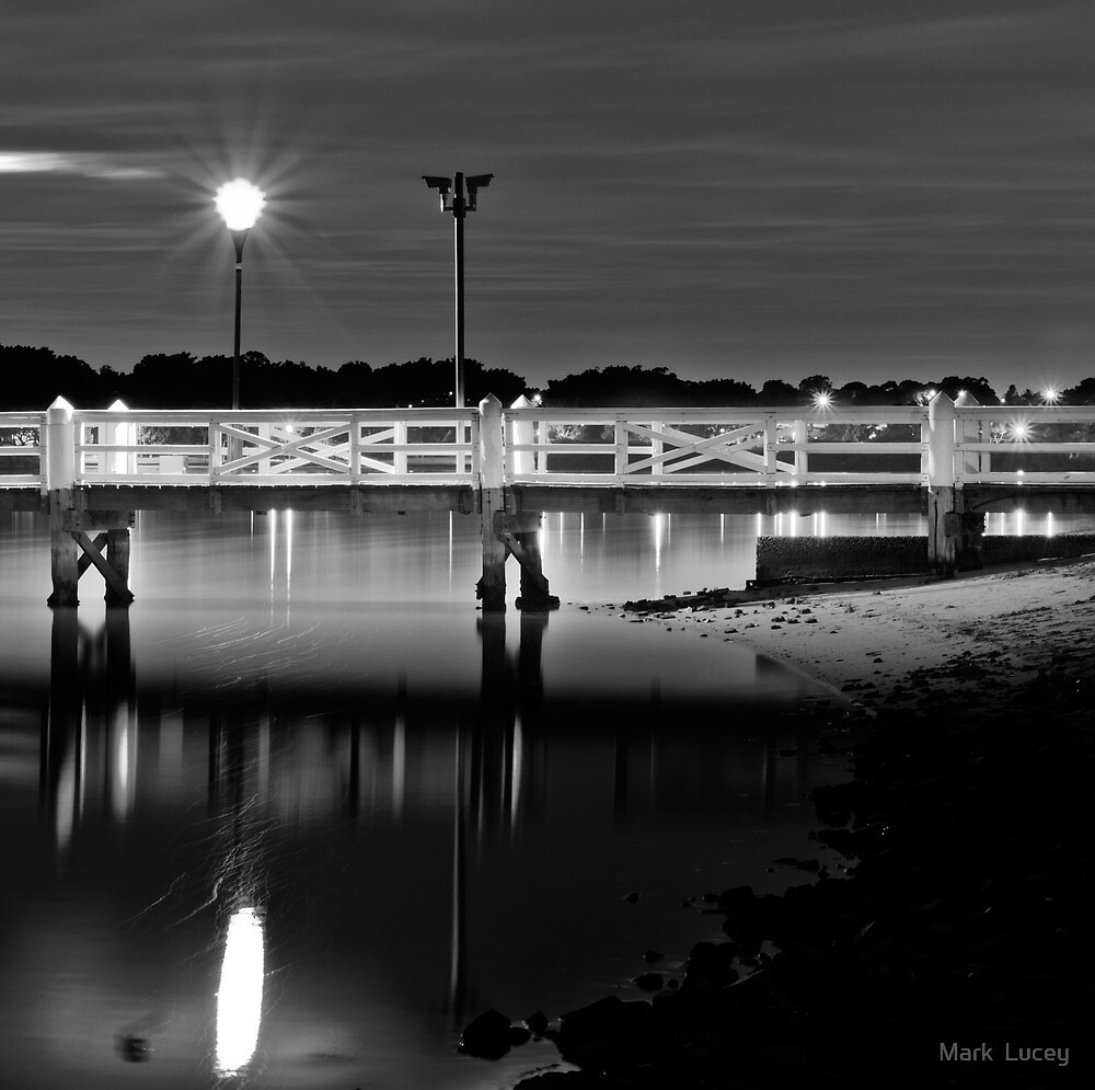 The Picketed Jetty by Mark  Lucey