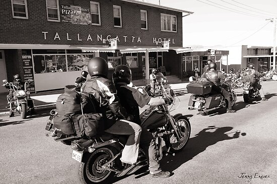 Tallangatta Hotel, Motorcycle group - Tallangatta Picture by Jenny Enever