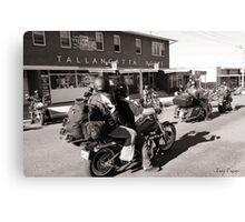 Tallangatta Hotel, Motorcycle group - Tallangatta Picture Canvas Print