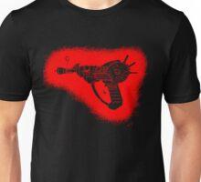 red sketchy ray gun Unisex T-Shirt