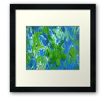Abstract Forest Glow Framed Print
