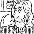 Hair Peace: Digital John Lennon Caricature by Grant Wilson
