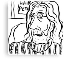 Hair Peace: Digital John Lennon Caricature Canvas Print