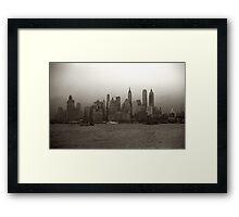 Vintage New York City Skyline Photograph (1941) Framed Print