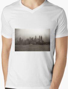 Vintage New York City Skyline Photograph (1941) Mens V-Neck T-Shirt