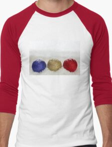 Christmas Baubles Sprinkled With Snow Men's Baseball ¾ T-Shirt