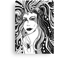 """Black Arachnid"" Canvas Print"