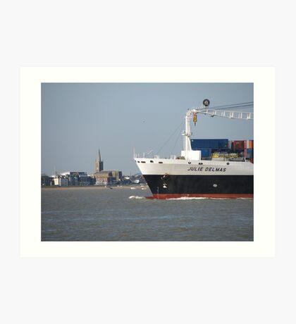 Julie Delmas Leaving Harwich Harbour Art Print