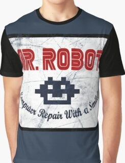 Mr Robot - Computer Repair With A Smile Graphic T-Shirt