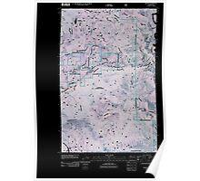 USGS Topo Map Washington State WA Boyds 20110505 TM Inverted Poster