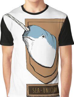 Sea-Unicorn Graphic T-Shirt