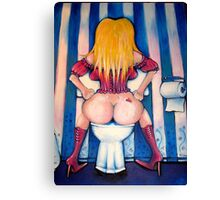 Loo Lady - Barbie painted Canvas Print
