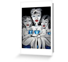 Blue Tea Party Greeting Card