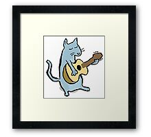 cat serenade Framed Print