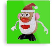 Santa potato Metal Print