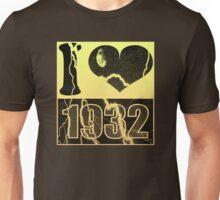 I love 1932 - Vintage lightning T-Shirt Unisex T-Shirt