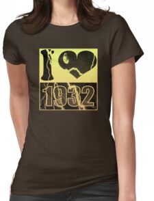 I love 1932 - Vintage lightning T-Shirt Womens Fitted T-Shirt