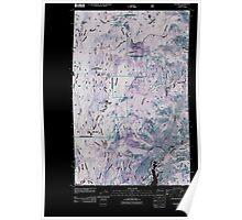USGS Topo Map Washington State WA Karamin 20110505 TM Inverted Poster