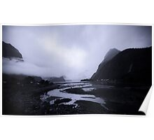 Milford Sound - a region of fiords. Poster