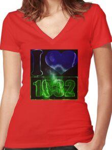 I love 1932 - lighting effects T-Shirt Women's Fitted V-Neck T-Shirt