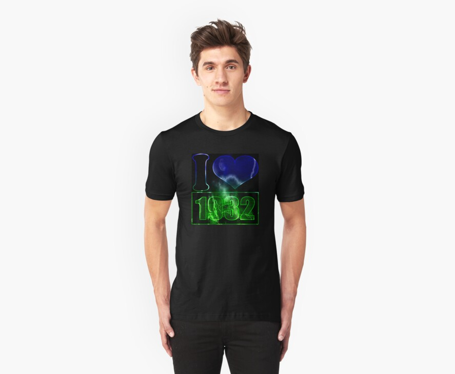 I love 1932 - lighting effects T-Shirt by Nhan Ngo