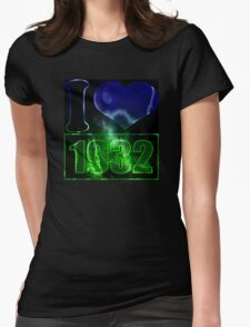 I love 1932 - lighting effects T-Shirt Womens Fitted T-Shirt