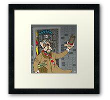 Tony Blair: Number Ten Cartoon Caricature Framed Print