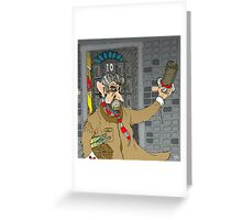 Tony Blair: Number Ten Cartoon Caricature Greeting Card