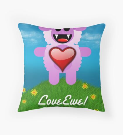 LOVE EWE! Throw Pillow
