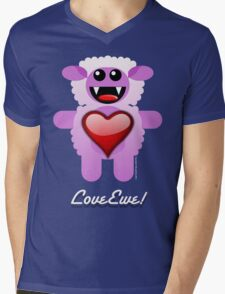 LOVE EWE! Mens V-Neck T-Shirt