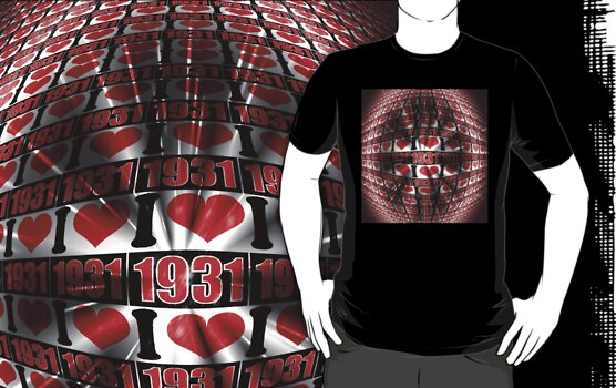I love 1931 - lighting effects T-Shirt by Nhan Ngo