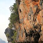 Thailand - Cliff Face in Sunset by Llewellyn Cass