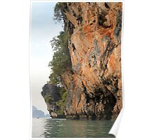 Thailand - Cliff Face in Sunset Poster