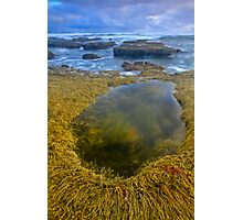Low Tide and Stormy Water Photographic Print