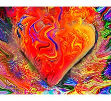 My heart is burning with intense feelings of Amor Photographic Print