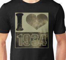 I love 1934 - Vintage pixels Unisex T-Shirt