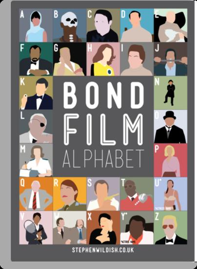 Bond Film Alphabet by Stephen Wildish
