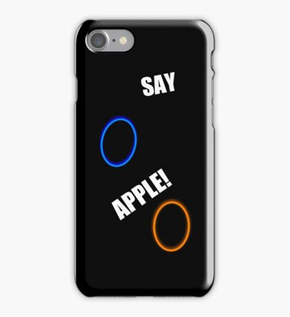 SAY APPLE!!!! iPhone Case/Skin