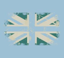 grungy UK flag Kids Clothes