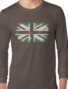 grungy UK flag Long Sleeve T-Shirt