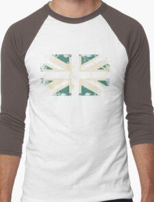 grungy UK flag Men's Baseball ¾ T-Shirt