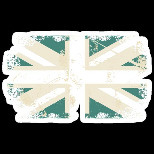 grungy UK flag by Anastasiia Kucherenko