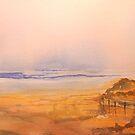 dusk at mogg's creek beach by Joel Spencer